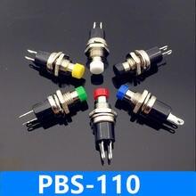 50 шт 7 мм резьба многоцветный кнопочный переключатель pbs 110