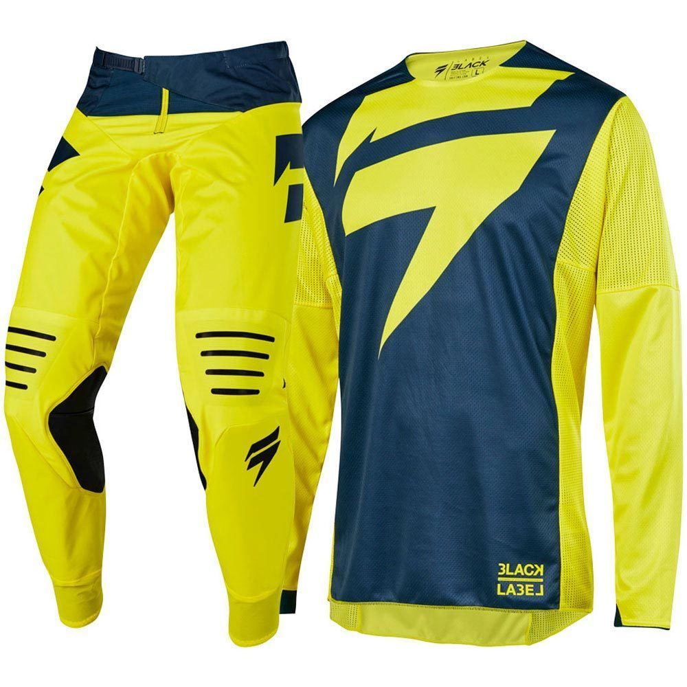 2019 NEW MX 3LACK Mainline Yellow Jersey Pants Adult Motocross Gear Set Jersey+Pants Racing Gear Combination