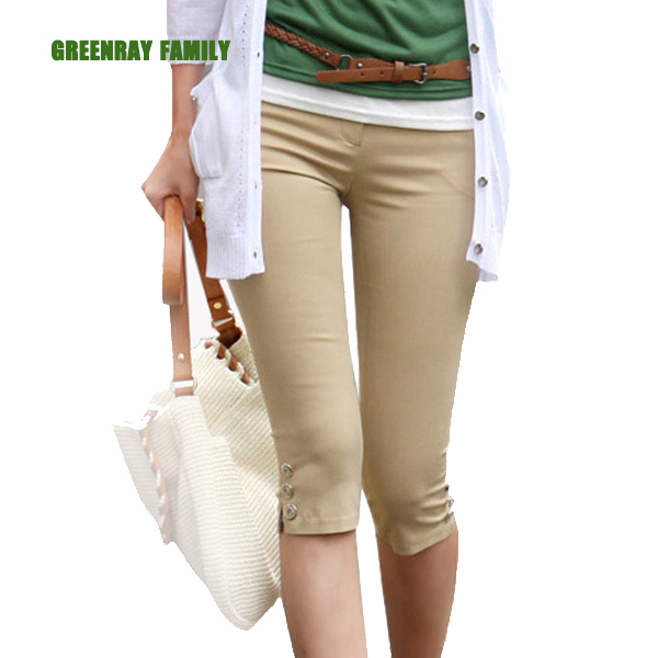 Popular Khaki Capri Pants-Buy Cheap Khaki Capri Pants lots from ...
