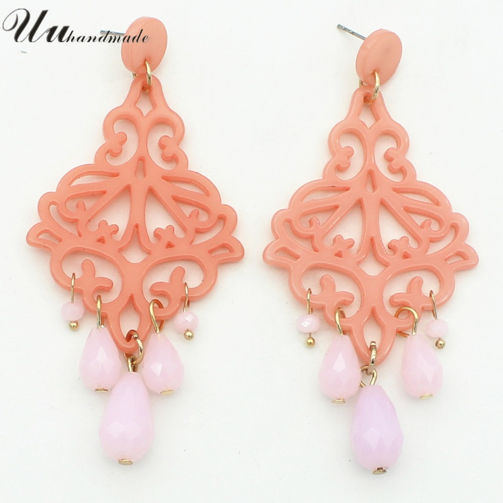 Acrylic earrings wholesale fashion jewelry customized MOQ 120 pairs delivery time about 20 days