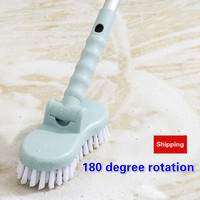 Bathroom Long Handle Brush Bristle Floor Cleaning Tool Toilet Bathtub Tile Floor Cleaning Brush Household Hygiene Tools