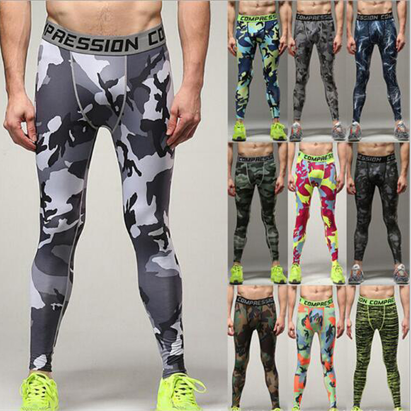MUSCLE MEMORY 2017 Men Compression Pants Tights Casual Bodybuilding Mans Trousers Brand Camouflage Army Green Skinny Leggings