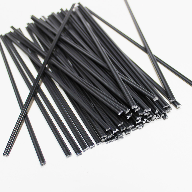 Black  ABS PE PP Plastic Welding Rods Round Bumper Repair Kit Hot Air Gun Welder Sticks Garage Tools Car Body Repair Soldering