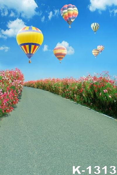 5ftx7ft Newborn Outdoor Field Path Photographic Props Backdrops