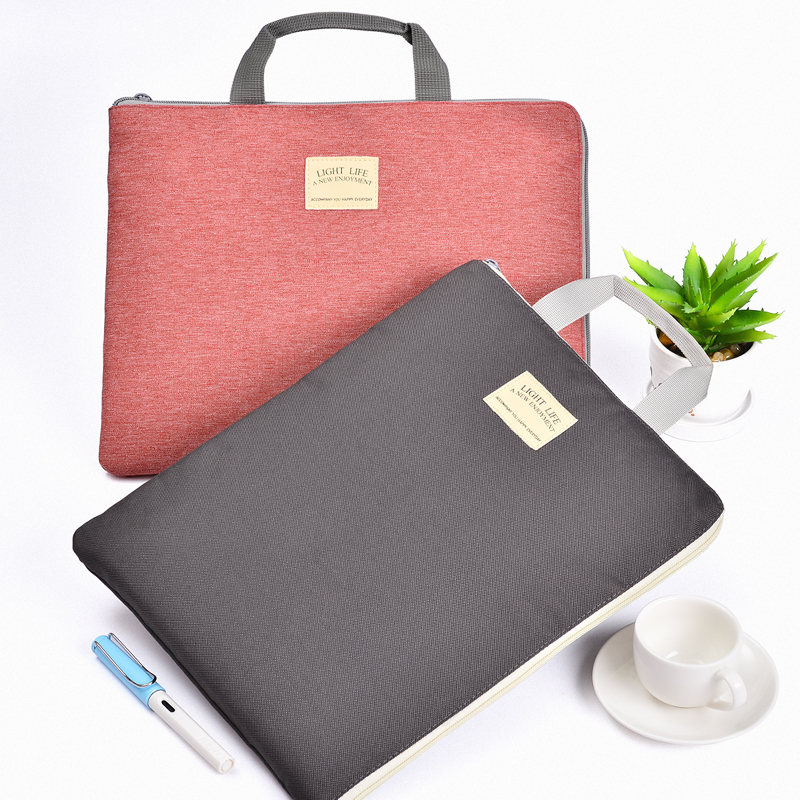 A4 Office Lady Handbag, Waterproof Canvas Document Bag Business Travel Files Case PC Bag, Add Logo
