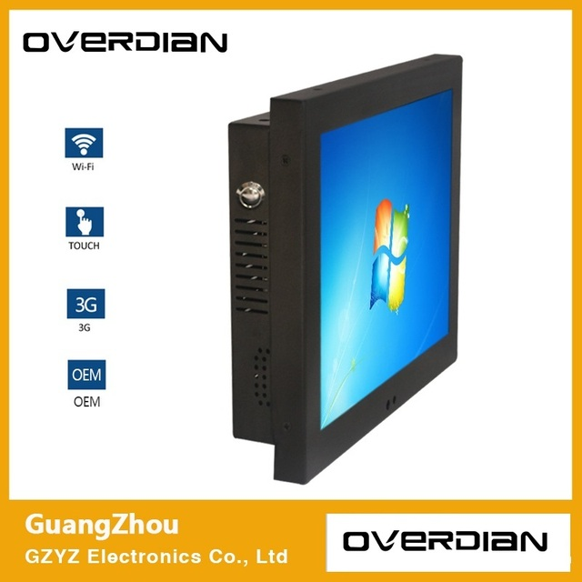 """10.4""""Intelligent Computer AIO Panel PC Squre Screen Win7 System Single Touch Screen Industrial Computer KTV Embedded Computer"""