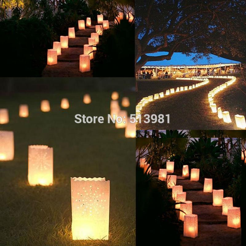 12pcs Luminary Sunshine Paper Candle Tea Light Lantern