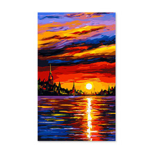 Digital painting self portrait painted color fill handmade gift decoration Everything is going smoothly. sailing