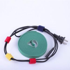 Image 2 - 5 M 10 M Kabel Veranstalter Draht Wickler Clip Kopfhörer Halter Maus Kabel Protector HDMI Kabel Management Für iPhone Samsung USB Kabel