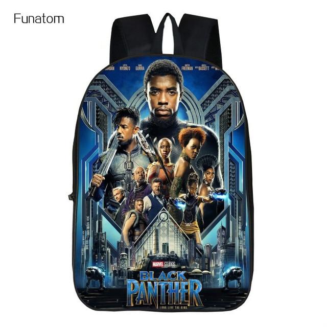 298da2b671 2018 Hot Children Black Panther Marvel Backpacks For School Boys Girls  Printed Superhero Backpack For Kids Students