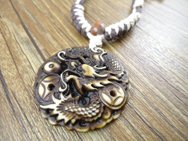 New arrival trendy unique handmade dragon resin pendants sweater new arrival trendy unique handmade dragon resin pendants sweater vintage men hemp rope necklaces jewelry for aloadofball Images