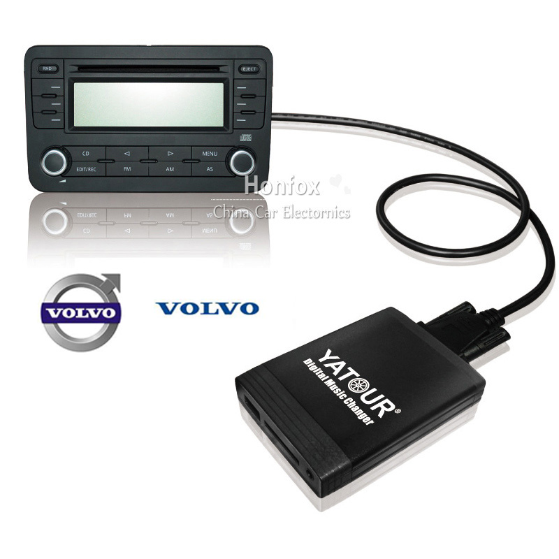 Yatour YT-M06 Car digital music changer For Volvo C70 2001-2006 /94-00 SC-xxx head unit  Car USB MP3 SD AUX adapter yatour digital music changer usb sd aux adapter yt m06 fits volvo s60 s40 car stereos mp3 interface emulator din connector