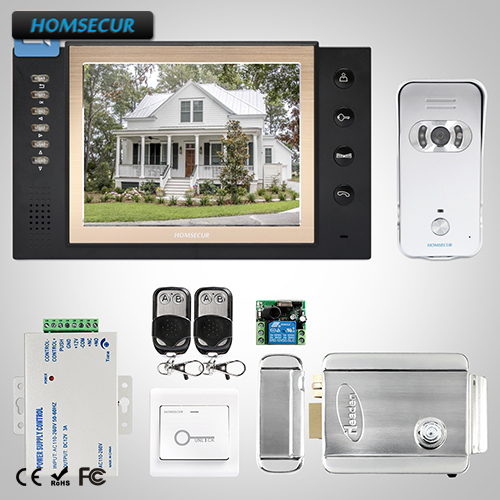 HOMSECUR 8 Hands-free Video&Audio Smart Doorbell Electric Lock+Keys Included  TC021-S + TM801R-BHOMSECUR 8 Hands-free Video&Audio Smart Doorbell Electric Lock+Keys Included  TC021-S + TM801R-B