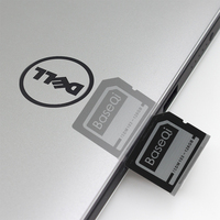 BaseQi Aluminum Mini Drive 128GB SD Card For Dell XPS 15 (9560/9570)Ninja Stealth Drive Memory Card