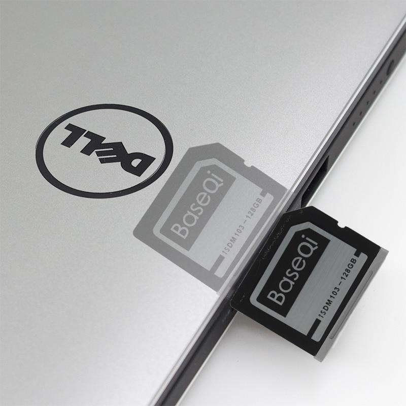 BaseQi En Aluminium Mini Lecteur 128 GB SD Carte Pour Dell XPS 15