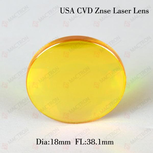 ФОТО USA Znse CO2 Laser Focus Lens  Diameter 18mm Focal Length 38.1mm
