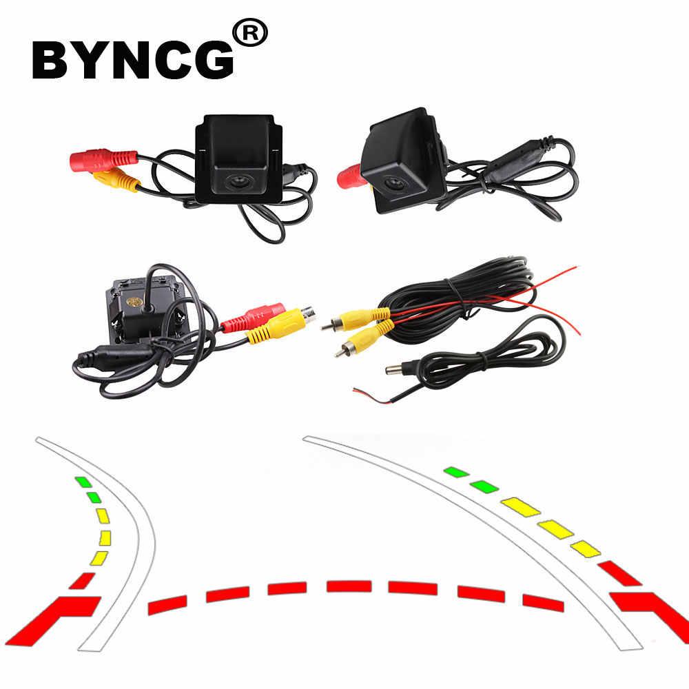 BYNCG caméra de recul dynamique pour Mitsubishi Outlander 2007-2015 Kit de caméra arrière Assistance de stationnement à vue large