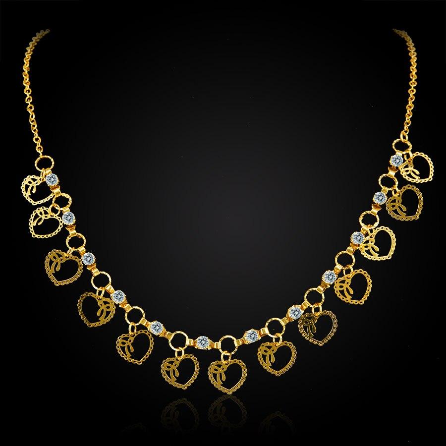 Valentinstag geschenk bowknot herz charme halsband halskette frauen gold farbe mode collares mujer maxi mädchen kristall anhänger halsketten