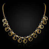 Valentine's gift bowknot heart charm choker necklace women gold color fashion collares mujer maxi girl crystal pendant necklaces