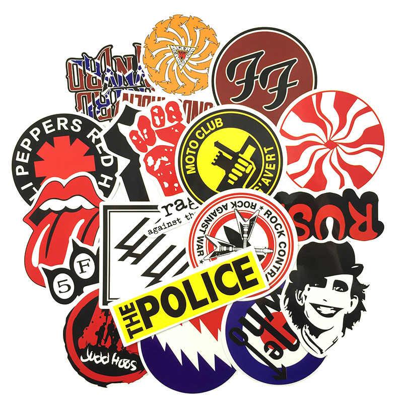 ... 50 piezas Etiqueta de Rock música banda Retro Graffiti JDM pegatinas  para DIY guitarra motocicleta portátil ... a589b51f09c
