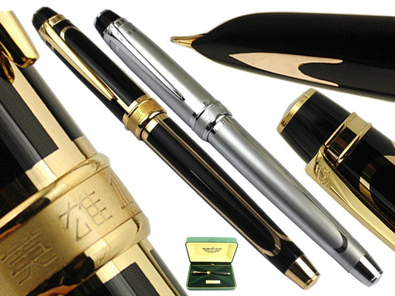 Signature Fountain Pen  14 K Solid Gold Nib NIB HERO 100 Office and school  stationery  Free Express Shipping