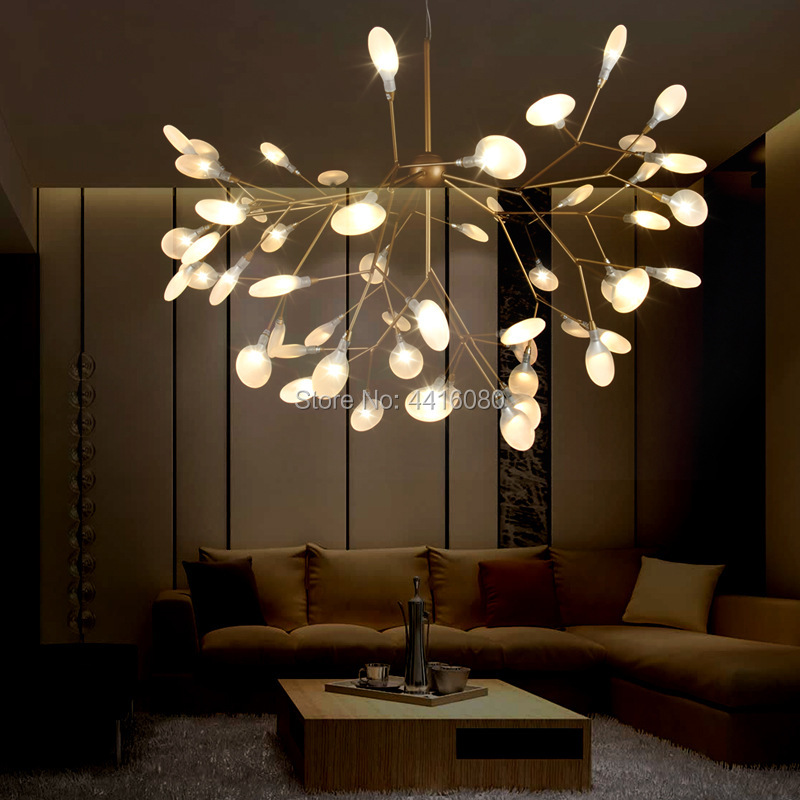 Nordic chandelier modern minimalist style creative restaurant warm bedroom lamp living room lamp branch firefly lamp LED G4 82CM modern circle tree branch led pendant light creative personality firefly dia 210cm nordic living room restaurant hall lobby lamp