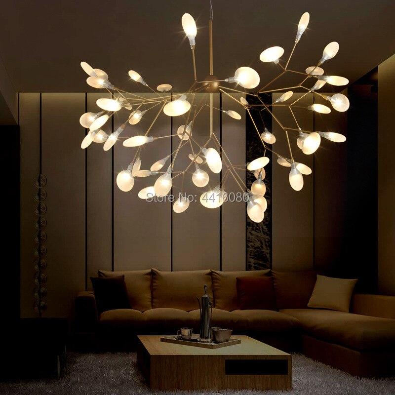 Nordique lustre moderne style minimaliste restaurant créatif chaud chambre lampe salon lampe branche firefly lampe LED G4 82 cm