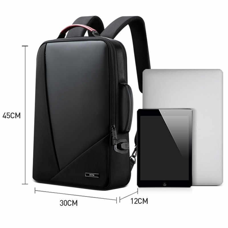 BOPAI iş sırt çantası erkek usb anti-hırsızlık bilgisayar çantası artan kapasite 15.6 inç Laptop sırt çantası kadın zarif su geçirmez