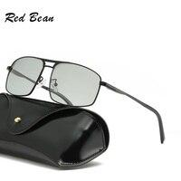 width 145 Polarized Photochromic Sunglasses men anti UV400 square Classic brand goggle Fishing photochromic sun glass eyewear