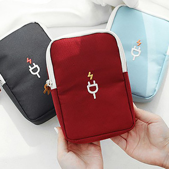 Sundries Travel Storage Bag Charging Case For Earphone Package Zipper Bag Portable Travel USB Cable Organizer Electronics