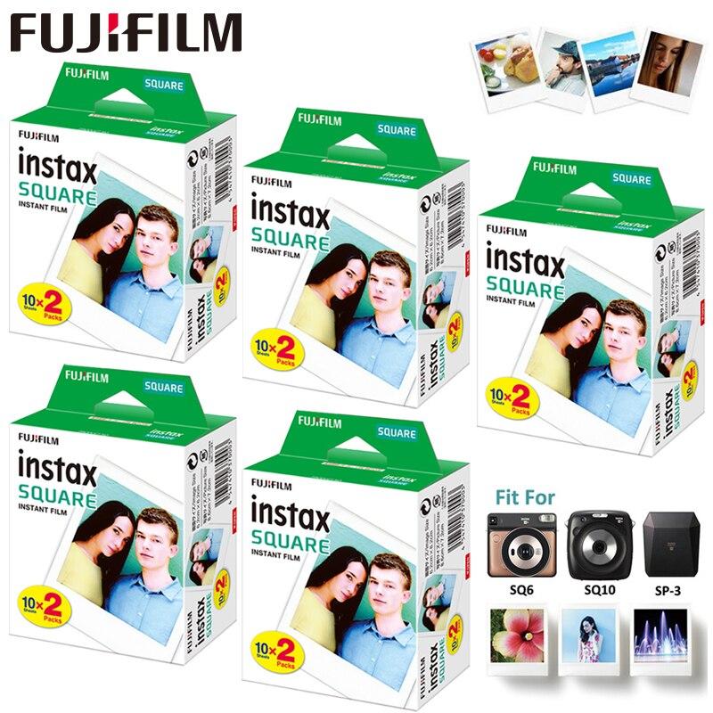 Instax película cuadrada papel fotográfico 100 piezas para Fujifilm Instax cuadrado SQ6 SQ10 SQ20 cámara de película instantánea híbrida y compartir SP 3 impresora-in Película from Productos electrónicos    1