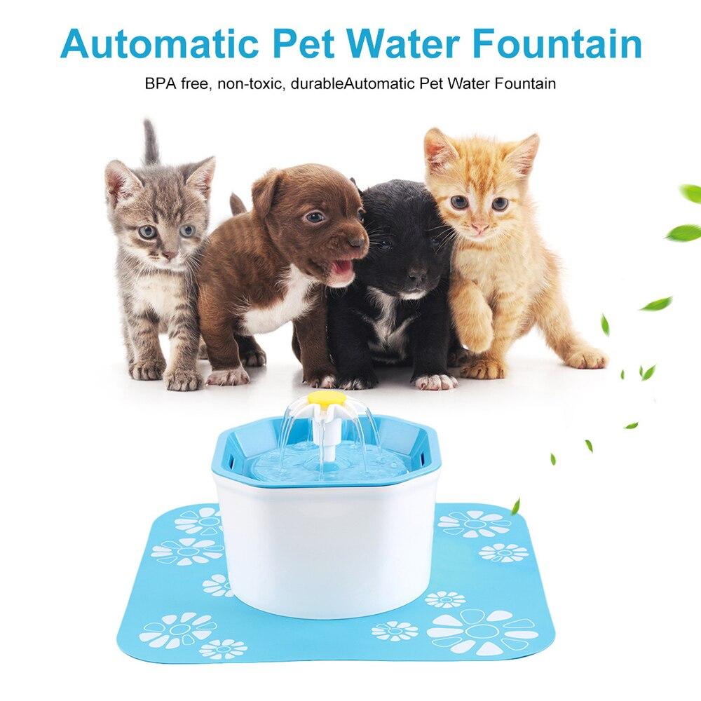 1.6L USB Fonte De Água Elétrico Automático Para Animais de Estimação Gato Cão Gato Pet Mudo Alimentador Bebedor Tigela Dispensador de Água Pet Fonte de água Potável