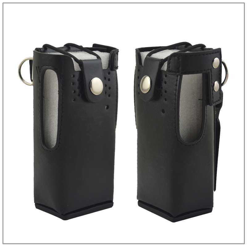 Leather Carrying Case Bag For Motorola GP338 GP360 HT750 Radio With Belt Clip
