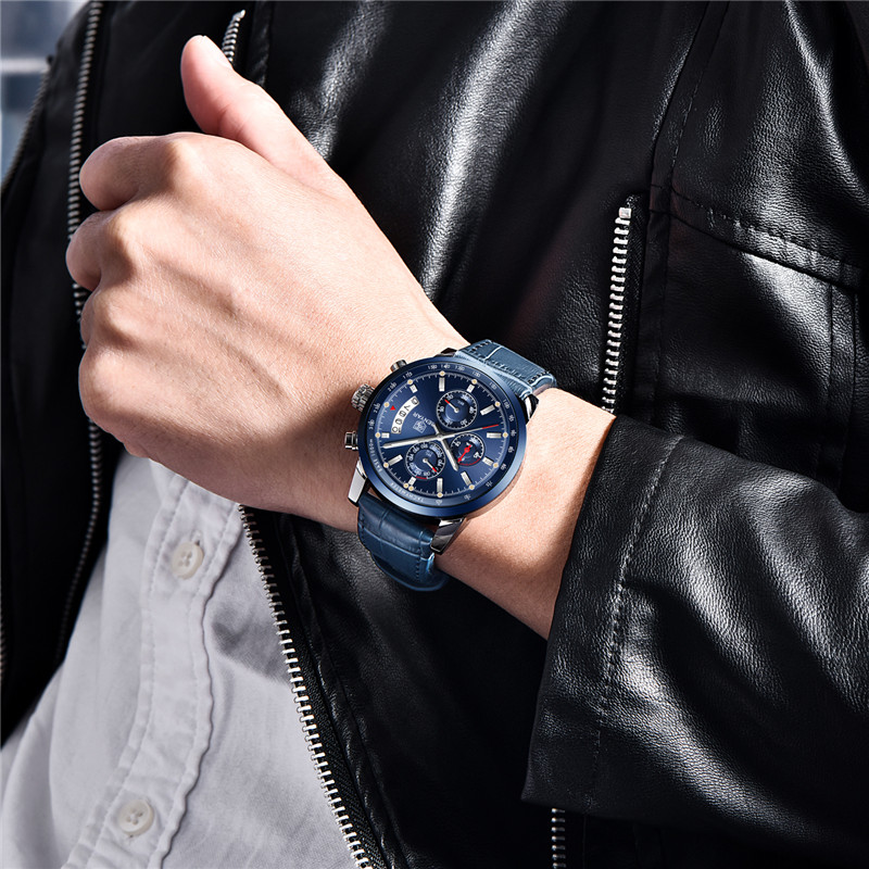 2018 New BENYAR Top Luxury Brand Men Fashion Blue Watch Men