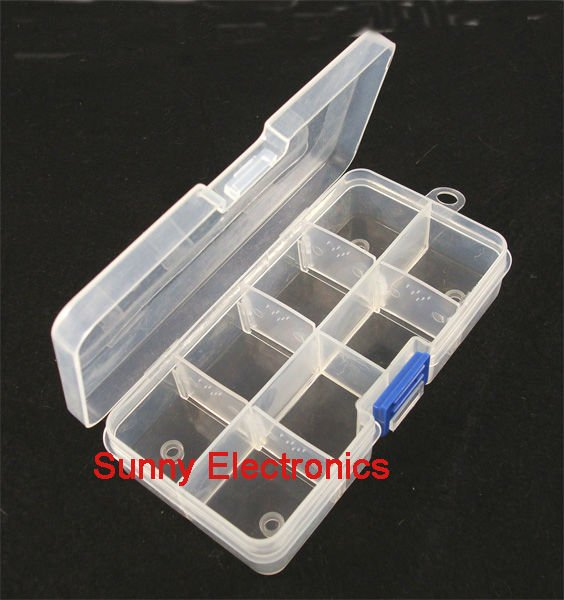 8/15/24 Compartment Slot Organizer Storage Beads Box Plastic Jewelry Adjustable Organizador Case