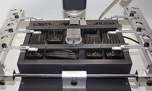 Image 4 - HONTON R490 паяльная станция для ремонта материнской платы телефона с тремя температурными зонами, горячим воздухом, 220 В 110 В