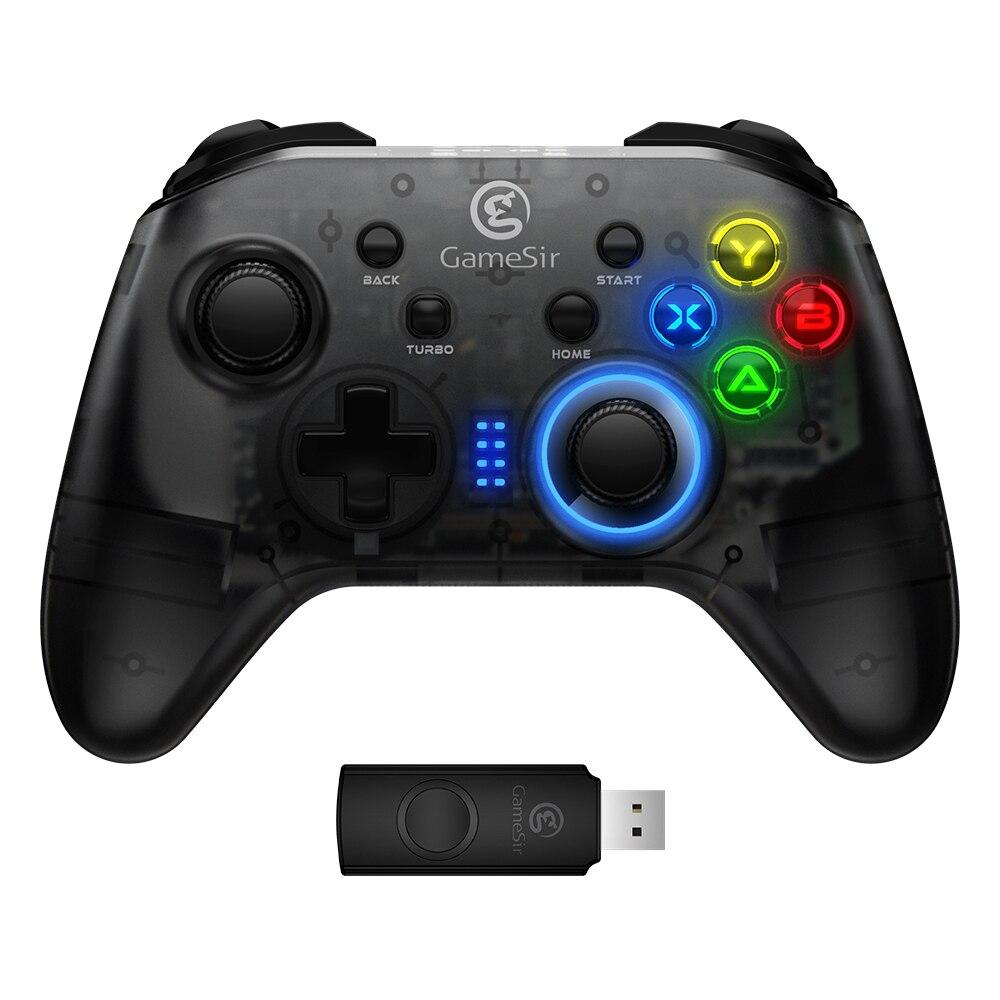 GameSir T4 2.4 GHz (USB récepteur) manette de jeu sans fil, USB filaire Gamepad pour Windows (7/8/9/10) PC