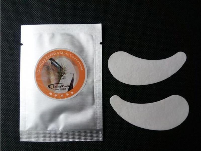 20 пар безворсовой шелк глазу ресниц Инструмент питания Спецодежда медицинская Клейкие ленты ресниц Клейкие ленты гель для глаз колодки