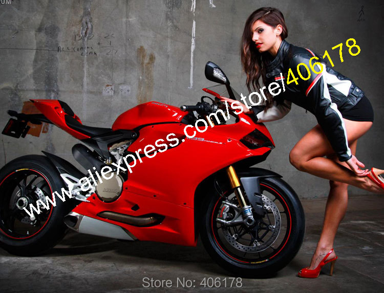 Hot Sales,Sexy Fairing For Ducati 1199 1199S 899 Panigale 2012 2013 2014 1199/1199S Red Motorbike Fairings (Injection molding) motorcycle tail tidy fender eliminator registration license plate holder bracket led light for ducati panigale 899 free shipping