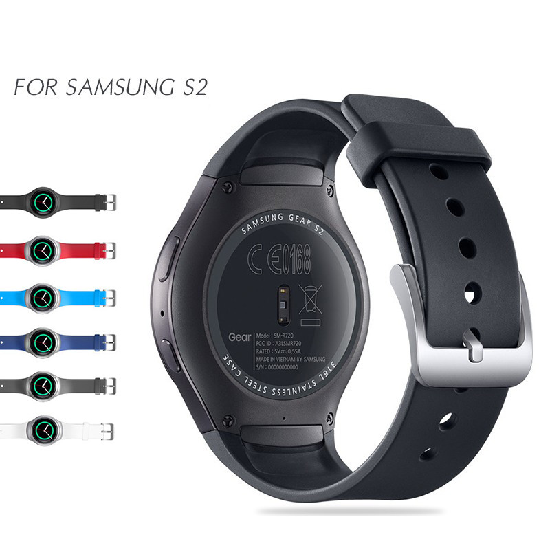 Correa de reloj de silicona deportiva para Samsung Gear S2 Pulsera inteligente Pulsera de correa de repuesto de silicona elegante