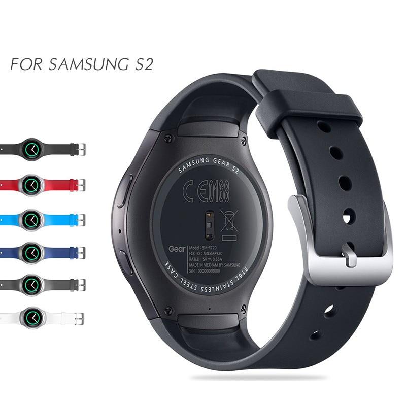 Športni silikonski pas za Samsung Gear S2 Smart Wristband Elegantna silikonska nadomestna zapestnica
