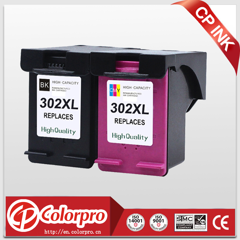 CP INK Wholesale 2PK لـ خرطوشة طباعة الحبر HP 302 302XL لـ HP DeskJet 1110 2130 Envy 4520 NS45 لـ HP Officejet 3630 3830 4650