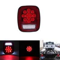 1 Pcs Car Rear Tail Light Red White Stop Brake Light for 12V Truck Trailer Turning Signal Lamp