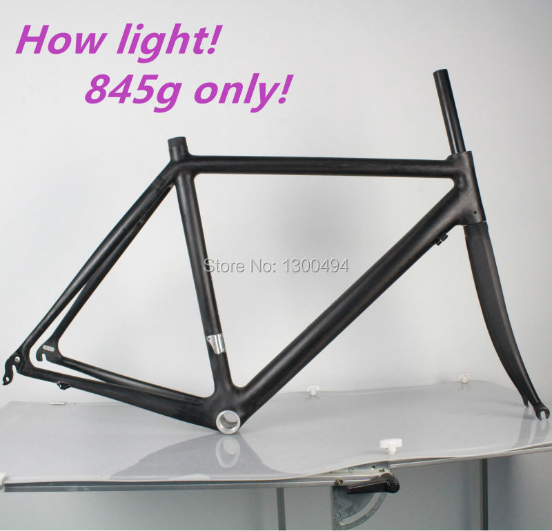 Bike Accessories Full Carbon Road Frame Lightest 845g 700C  Size 54cm BB68 Fork Included UD Matte FinishFactory Outlets