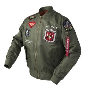 Image 3 - 2020 Autumn Top gun Us navy MA1 letterman varsity baseball Pilot air force flight college tactical military army jacket for men