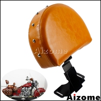 1x EZ ON/OFF Driver Backrest For Harley 2014 Up Indian Chief Chieftain Motorcycle Brown Quick Release Driver Sissy Backrest