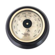 7,2 дюйма 180mm деревянное основание Настенные Бытовые барометр, термометр, гигрометр метеостанции висит