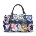 Мода печать тканые дамы сумки дизайнер подлинной джинсовой ткани женщин посыльного плеча сумки для покупок bolsas femininas