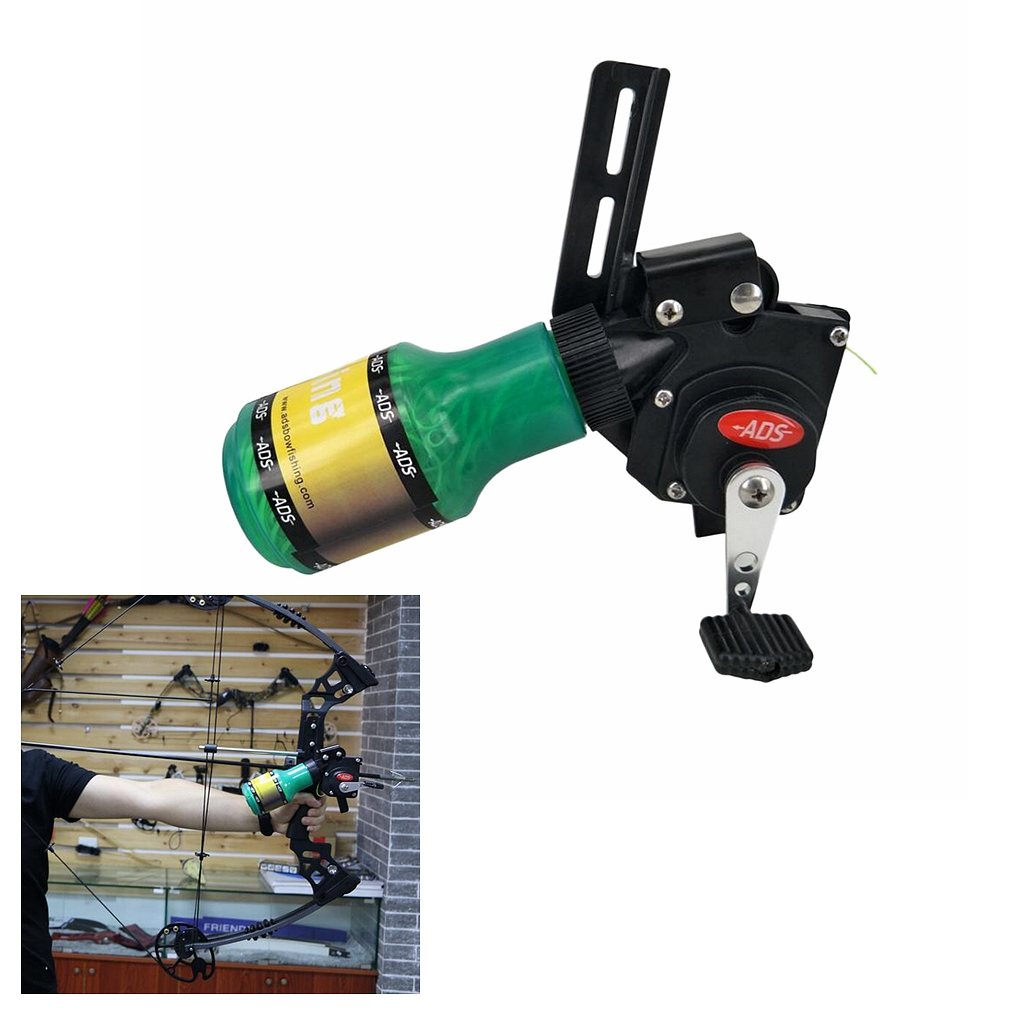 Pro Bow Fishing Reel for Compound Bow and Recurve Bow Easy Installation Adjustment