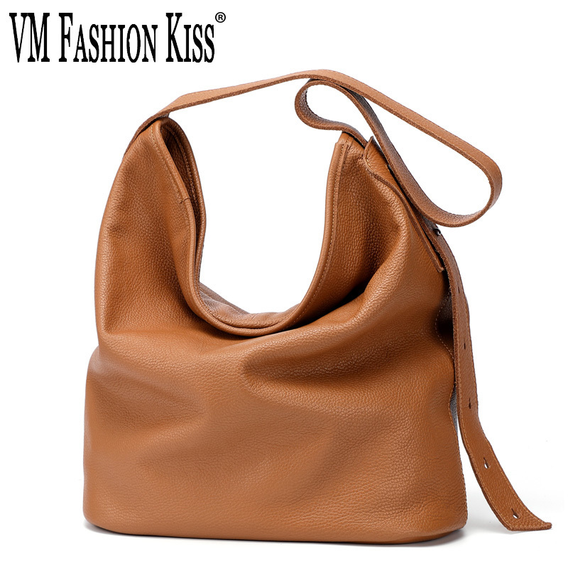 VM FASHION KISS Genuine Leather Designer Lady Purses and Handbags High quality Hobos bag female Big Soft Tote Top-handle Bags VM FASHION KISS Genuine Leather Designer Lady Purses and Handbags High quality Hobos bag female Big Soft Tote Top-handle Bags